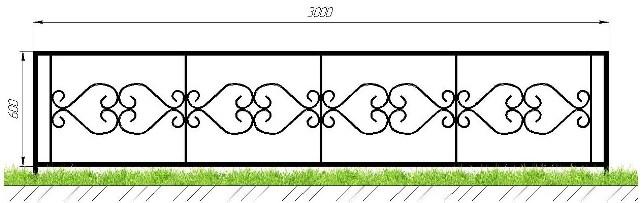 Кованые оградки в Сыктывкаре