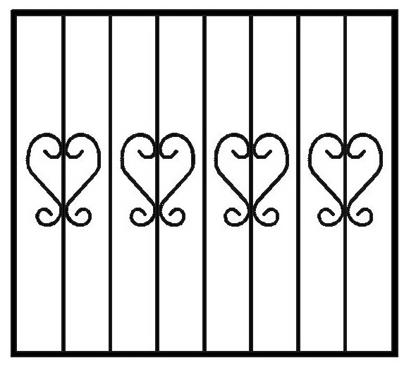 кованые решетки на окна цена