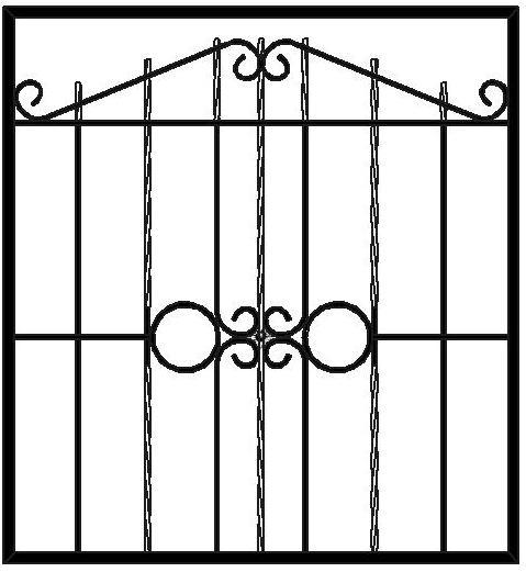 кованые решетки на окна в Сыктывкаре, металлические решетки на окна