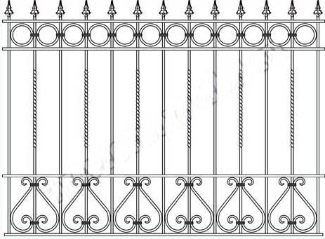 Цена на кованый забор в Сыктывкаре