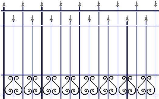 Забор с ковкой в Сыктывкаре