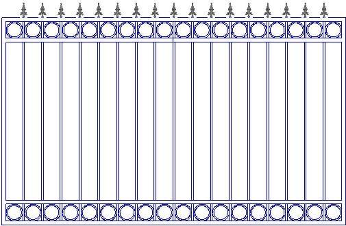 Заборы с элементами ковки в Сыктывкаре