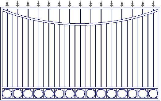 Не дорогой кованый забор