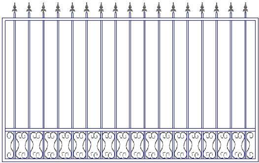 Заказать кованый забор в Сыктывкаре