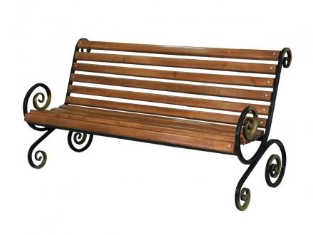 Производство кованых скамеек в Сыктывкаре в кредит, садовая скамейка